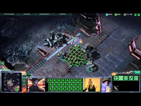 TotalBiscuit teaches LisaNova how to play StarCraft 2 Pt 2
