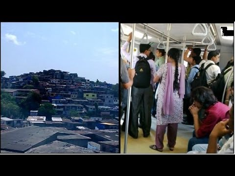 Mumbai Metro Train Inside & Outside View Compilation India 2014 [FULL HD]