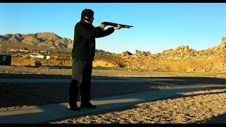 "Shooting Mossberg 500 12-gauge Pump Shotgun With Hogue ""Tamer"" Pistol Grip"