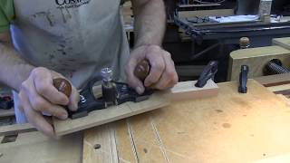 Hand cut flat miter