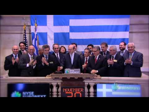 NYSE Euronext Celebrates 8th Annual Greek Day at the NYSE rings the NYSE Closing Bell