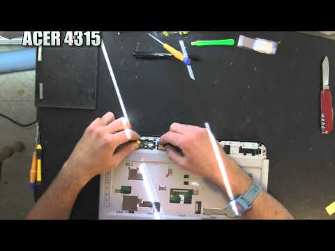 ACER ASPIRE 4315 laptop take apart video. disassemble disassembly