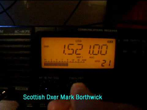 MW DX China Radio Int 1521Khz Received in Scotland With Icom IC-R75 and Longwire Antenna