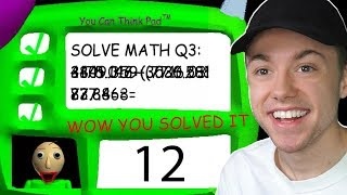 ANSWERING THE 3RD QUESTION IN BALDI'S BASICS