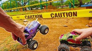 Monster Trucks Park Construction Site Adventure - Fortunately/Unfortunately
