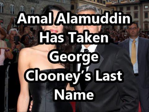 Amal Alamuddin Has Taken George Clooney's Last Name