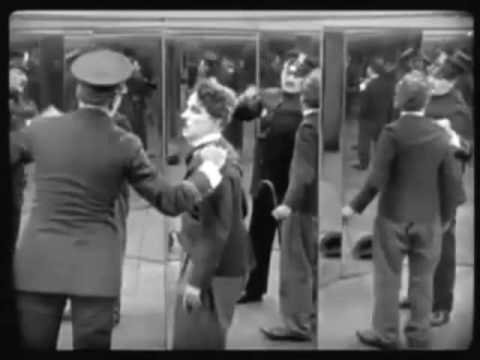 Charlie Chaplin And Nathan 'flutebox' Lee In 'the Mirror Maze' video