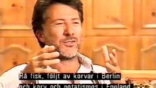 Dustin Hoffman farts in Swedish TV