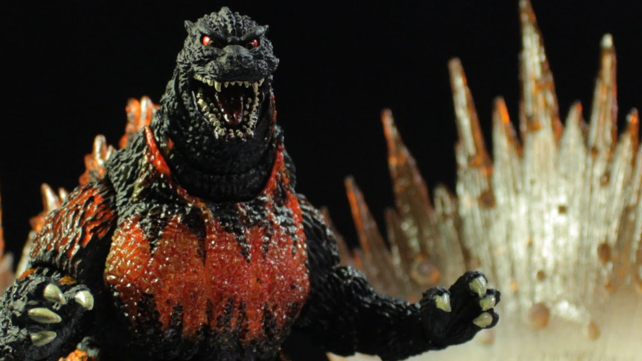 s h  monster arts godzilla  1995  burning godzilla review