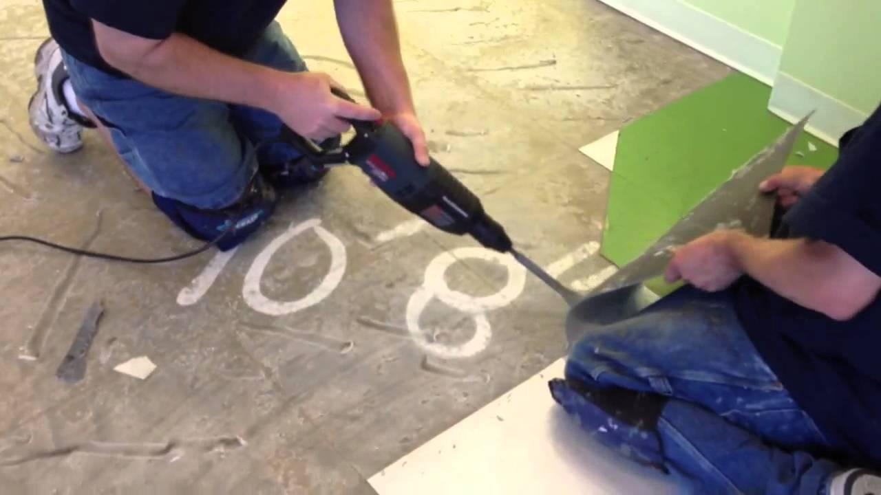 Best tool to remove tile floor