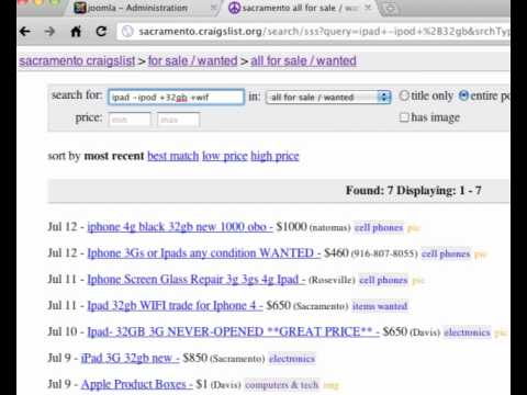 Tutorial 2 of 5 (Feeds) - Craigslist RSS Auto Responder Video