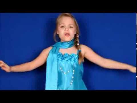 Frozen Let It Go Cover 8 Year Old Gracie Sings As Elsa (demi Lovato, Idina Menzel) In Elsa Dress video