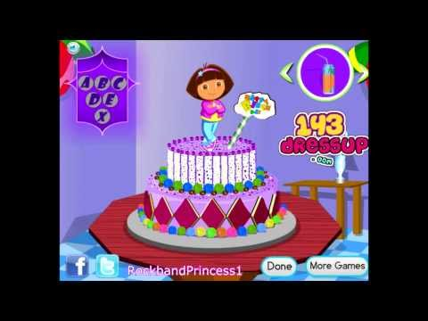 Dora Online Games To Play Free - Dora Cooking Games - Dora Decorates Cake Game - Dora Games