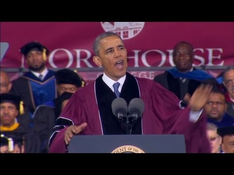 Obama addresses Morehouse graduates