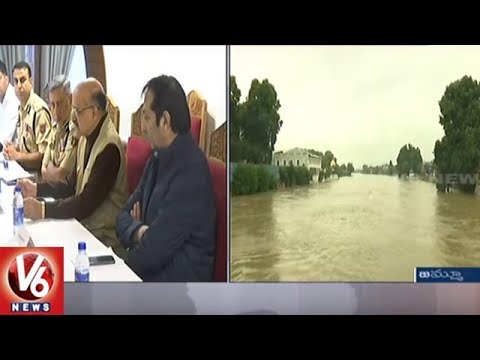 Heavy Rains Lashes Jammu And Kashmir, Amarnath Yatra Stalled Due To Rains | V6 News