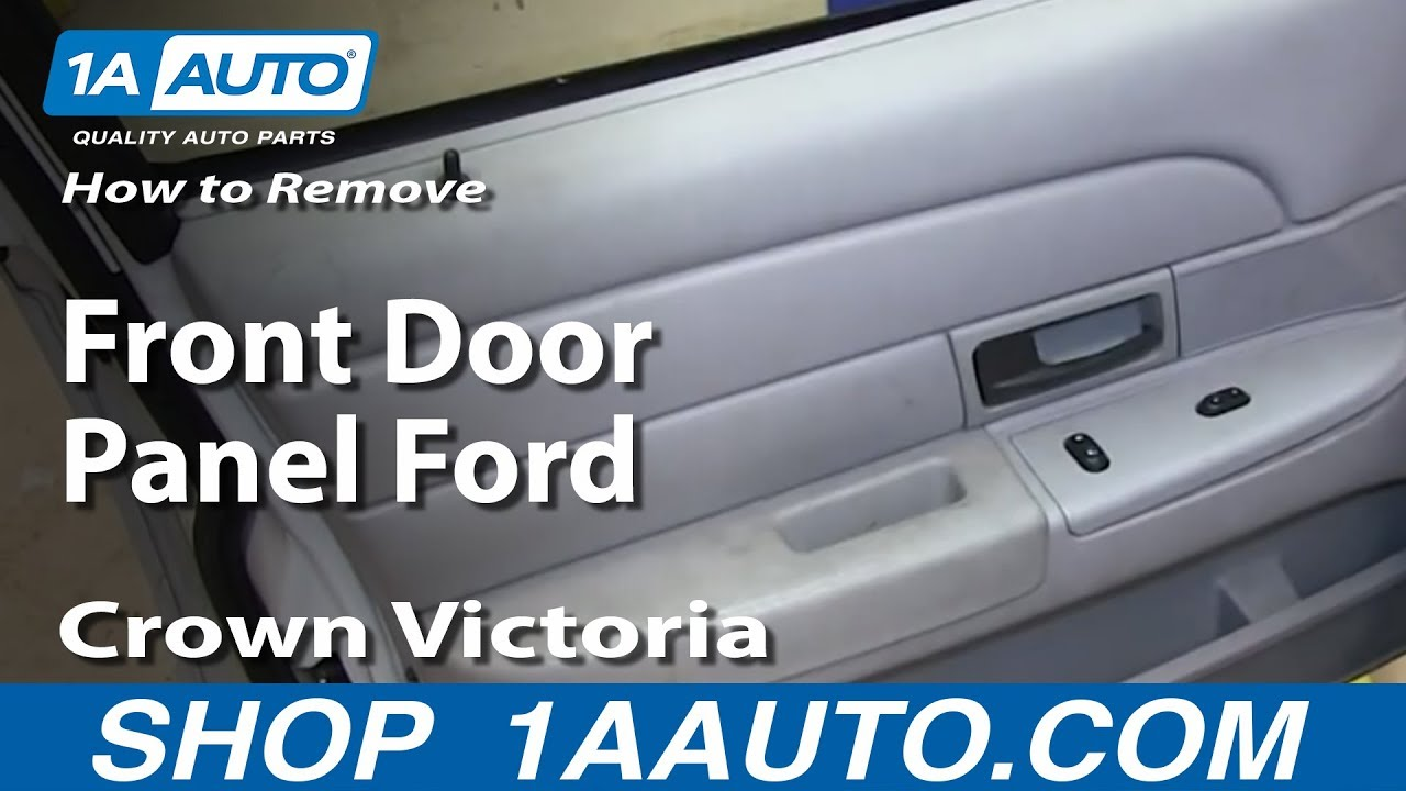 how to remove install front door panel ford crown victoria youtube. Black Bedroom Furniture Sets. Home Design Ideas