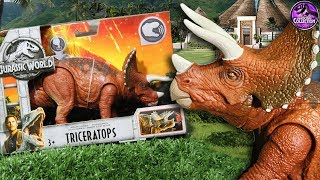 TRICERATOPS   Jurassic World: Fallen Kingdom   Mattel Toys Reviews