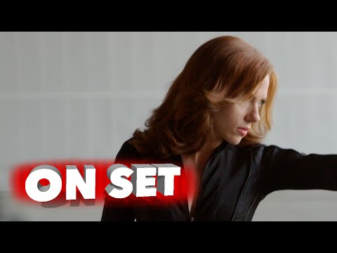 "Captain America: Civil War: 4k Behind the Scenes Scarlett Johansson ""Black Widow"" Movie Broll"
