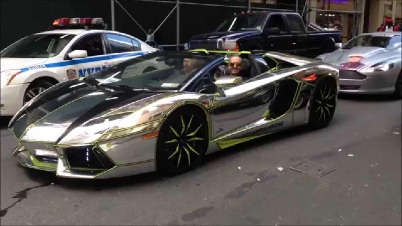 Rare Exclusive Catch Of A Chrome Lamborghini Aventador At