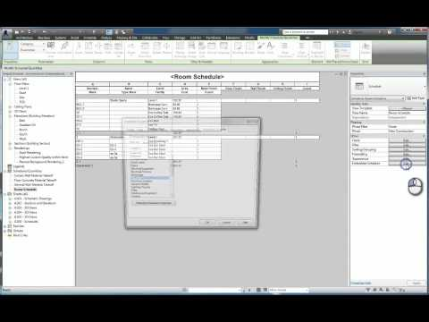 Revit: Embedded, Conditional, Key Schedule Features