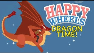 A F#%KING DRAGON! [HAPPY WHEELS MADNESS!]