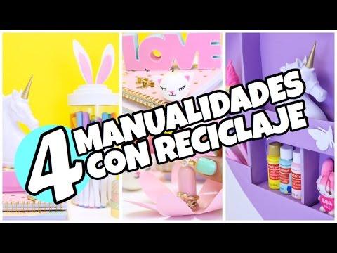Videos De Manualidades Faciles Y Bonitas.4 Manualidades Faciles De Hacer Y Economicas Con Reciclaje Super