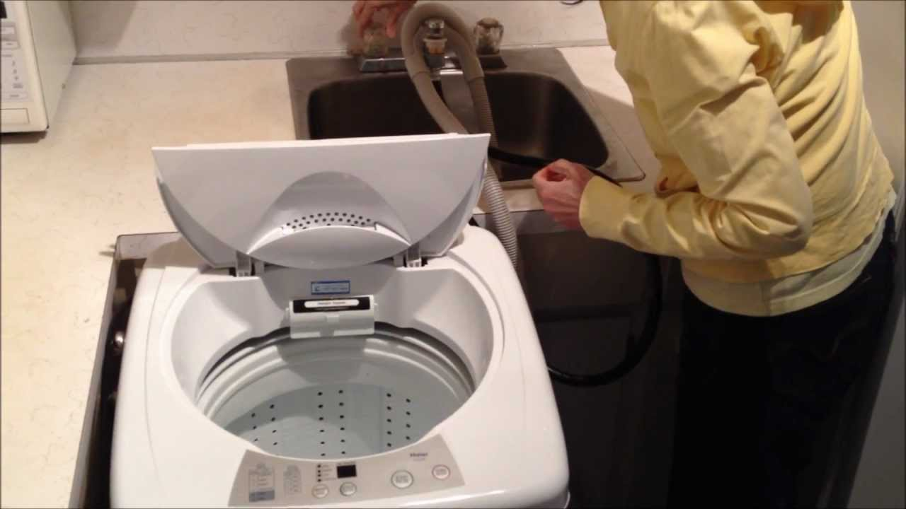 haier hlp23e portable washer review youtube