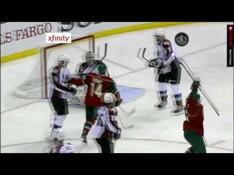 Mikael Granlund first NHL career goal, tip-in! [19/01/13] HD