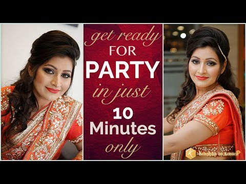Easy Party Makeup | 10 Minute Quick Party Makeup Tricks | Step By Step Tutorial | Krushhh By Konica