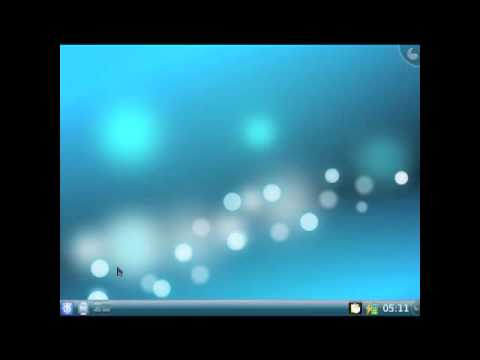 This video shows the new Slackware 13 boot preview after the fresh install