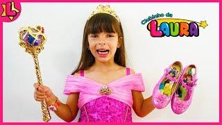 Laurinha wants to be a Disney Princess for kids - Laurinha quer ser uma princesa da Disney