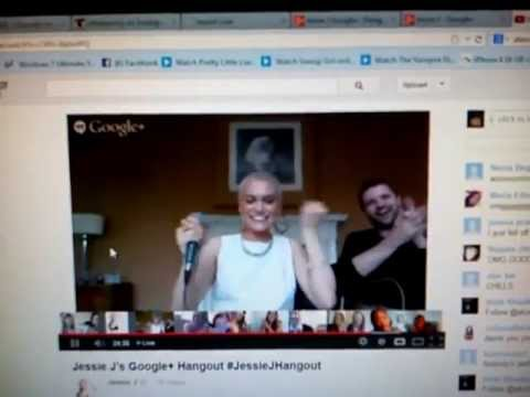 Jessie J Google+ Hangout Nobody's Perfect + Wild(little part) :)
