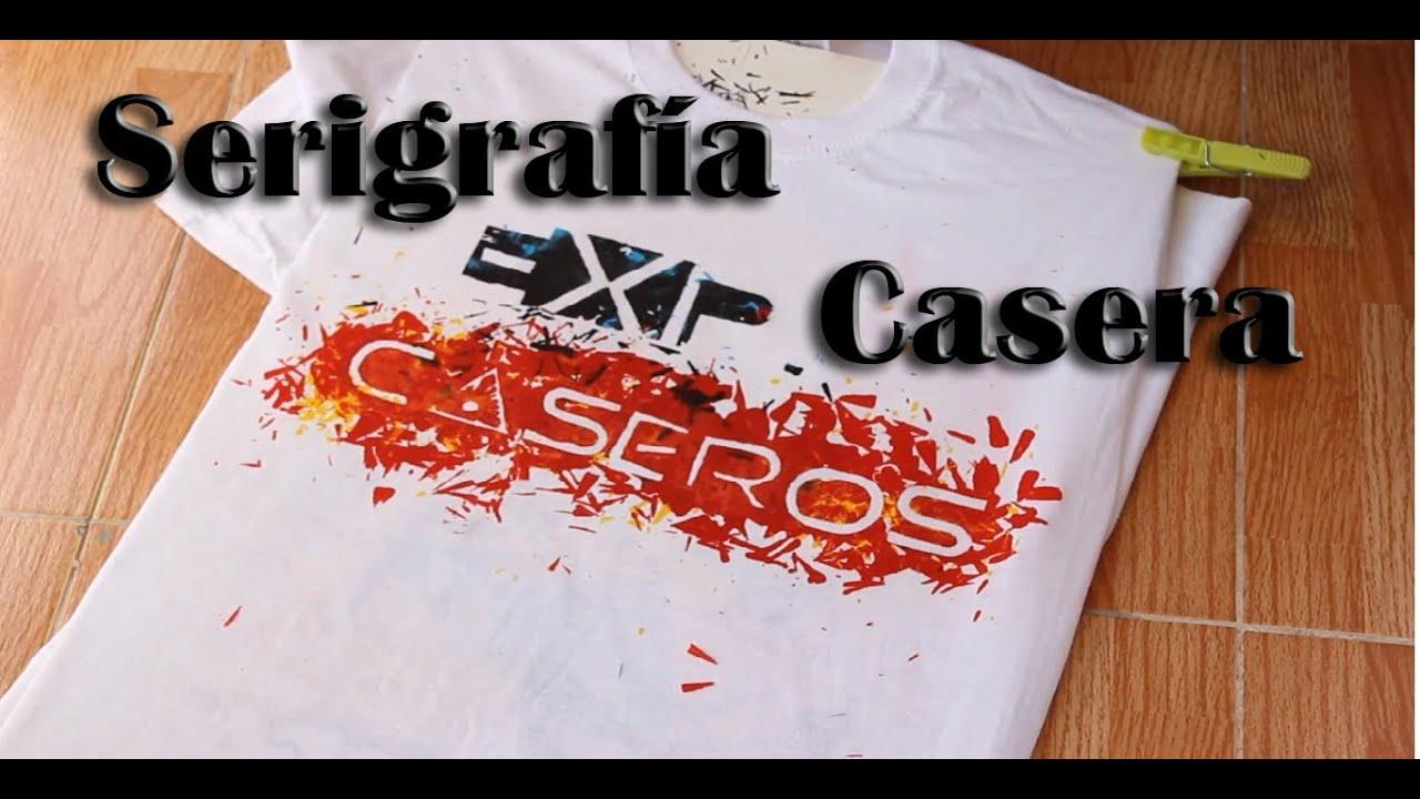 C mo estampar camisetas en casa serigraf a casera experimentos caseros youtube - Estampar camisetas en casa ...
