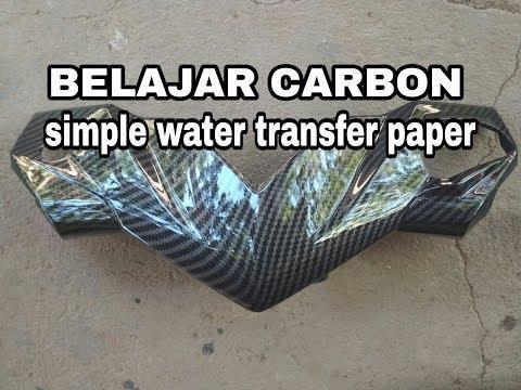 Belajar water transfer paper carbon // step by step // PONDOH CUSTOM