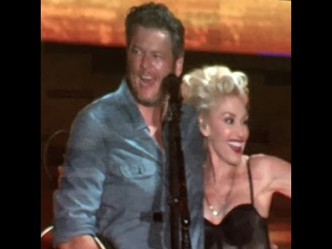 "Blake Shelton Birthday Duet with Gwen Stefani ""Go Ahead And Break My Heart"" Happy B'day Blake!"