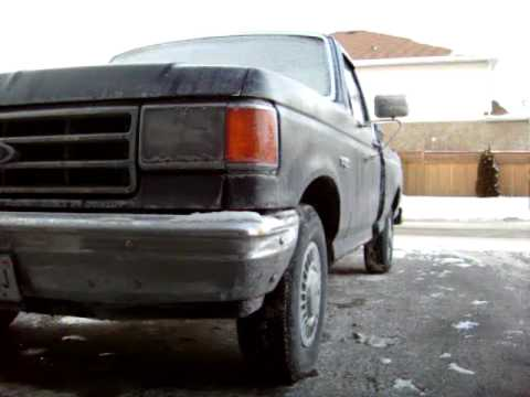 SUPER COLD Start 1989 Ford F150 300 Straight 6