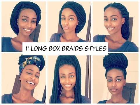 How To Style Long Box Braids 2016    11 Unique Styles