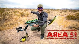 Metal Detecting AREA 51 Before RAID!! (intimidated by police)
