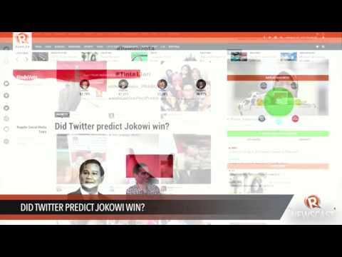 Did Twitter predict Jokowi win?