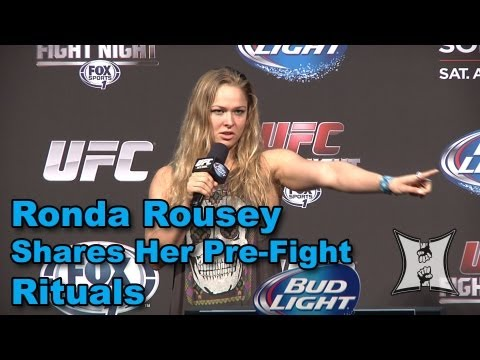 UFCs Ronda Rousey on PreFight Rituals Including The Importance of Her Battle Boots