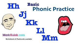 Basic English Phonics: Hh Jj Kk Ll Mm | English Pronunciation Practice | ESL