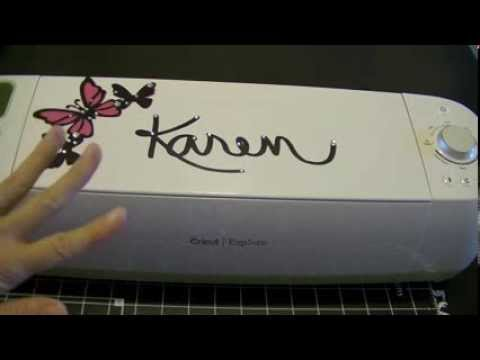 Cricut Explore How To Cut Out Your Own Handwriting Youtube