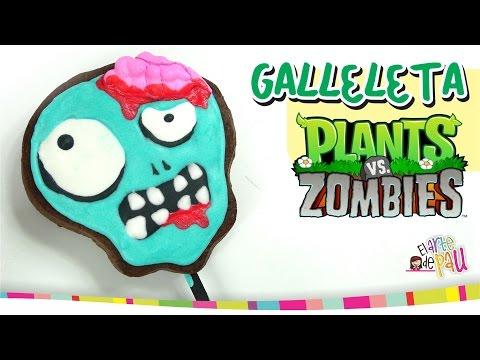 PLANTS VS ZOMBIES Lollipop Cookies Paletas de Galleta