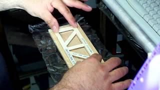 Tutorial de la Construccion de un tramo de grua de palillos de helado R/C