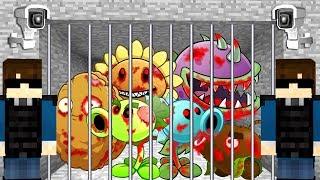 PLANTS VS ZOMBIES PRISONERS (MINECRAFT PRISON ESCAPE) ESCAPE FROM JAIL IN MINECRAFT