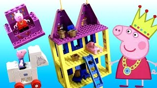 Peppa Pig Castle Mega Blocks Building Toys with George ❤ Bloques Castillo Princesa Peppa
