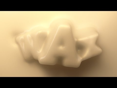 Cinema 4D Tutorial  - Create Wax Type Using Collision Deformer