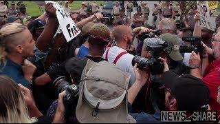 Crowd Confronts Nazi in Gainesville, FL