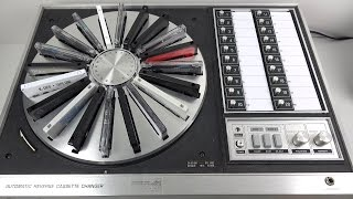 Fascinating Vintage 20 Cassette Carousel from 1972 : Panasonic RS-296US