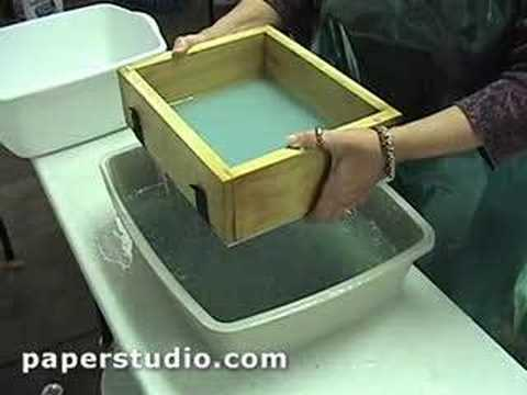 How to on Handmade Paper - www.Paperstudio.com